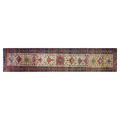 Persian Heriz Runner, 3' x 17'8""