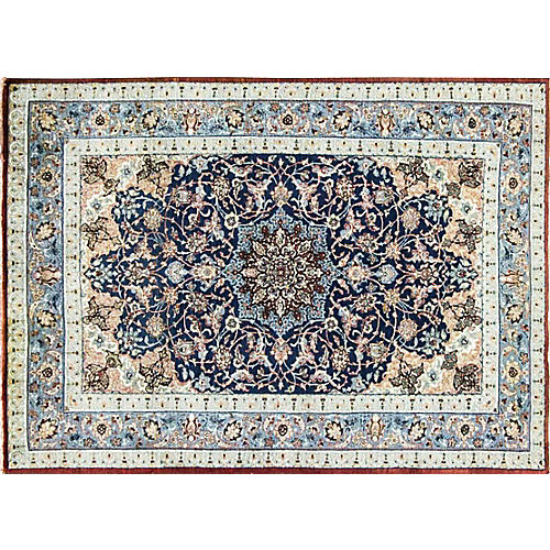 "Persian Isfahan Rug, 3'2"" x 4'8"""