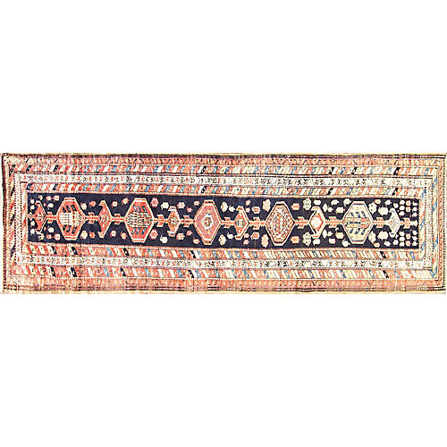 "Antique Persian Runner, 3'5"" x 11'7"""