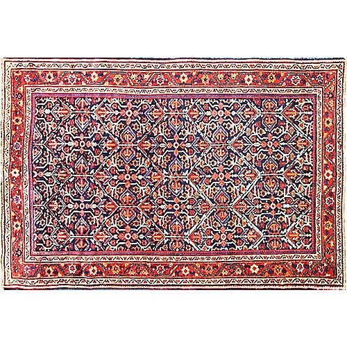 "Antique Sultanabad Rug, 4'7"" x 7'"