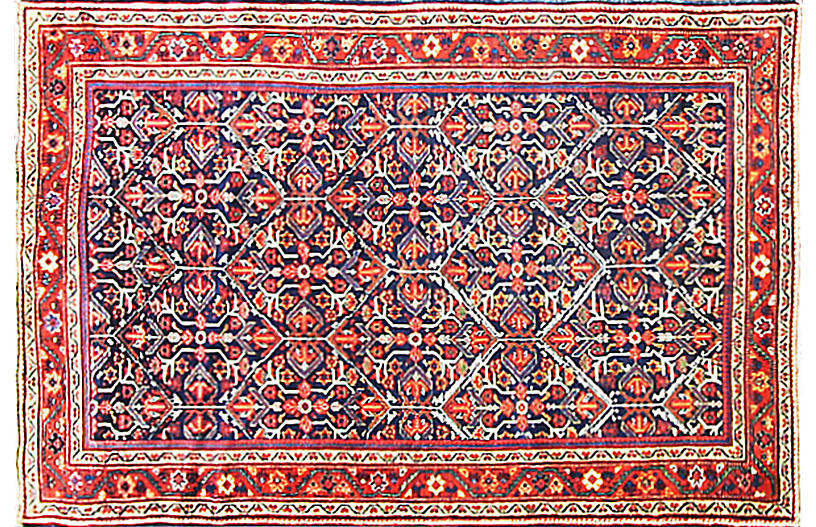 Antique Sultanabad Rug, 4'7