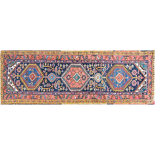 "3'1"" x 9'2"" Antique Persian Heriz Runner"