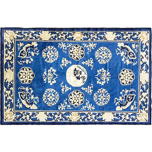 """Antique Chinese Peking Rug, 5' x 7'8"""""""