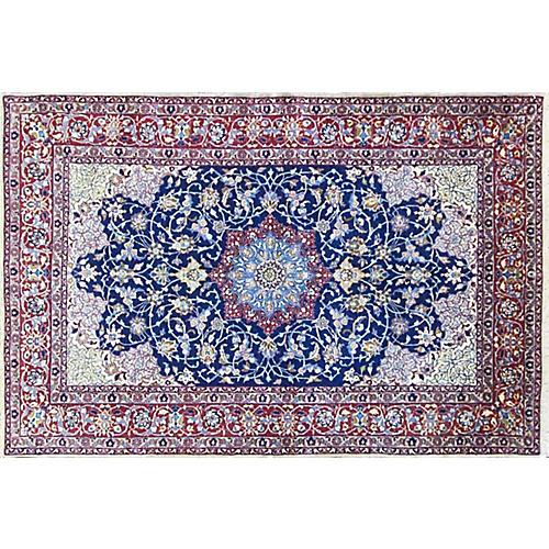 "Persian Isfahan Rug, 3'7"" x 5'4"""