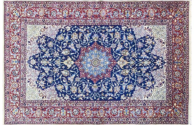 Persian Isfahan Rug, 3'7