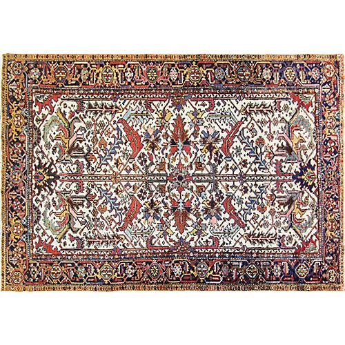 """Antique Persian Heriz Rug, 7'3"""" x 10'6"""""""