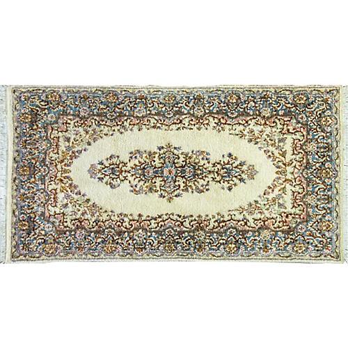 Persian Kerman Rug, 3' x 6'