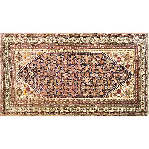 "Antique Qashqai Rug, 4'6"" x 8'2"""