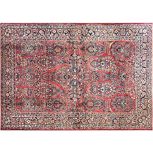 """Persian Sarouk Rug, 6'1"""" x 9'"""