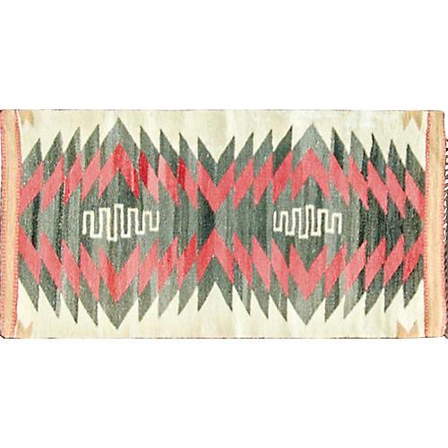 "1'6"" x 3'2"" Double Saddle Navajo Rug"