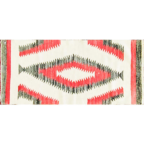 "Navajo Ganado Saddle Rug, 1'3"" x 2'11"""