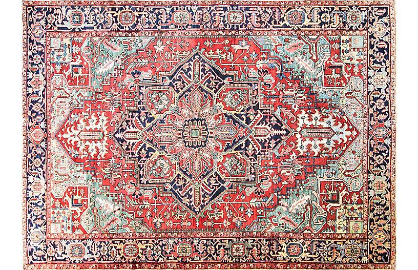 Antique Persian Heriz Rug, 9' x 12'8