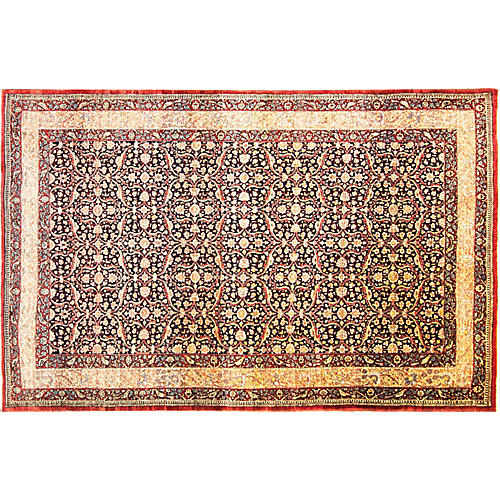 "Antique Tehran Rug, 6'7"" x 10'4"""