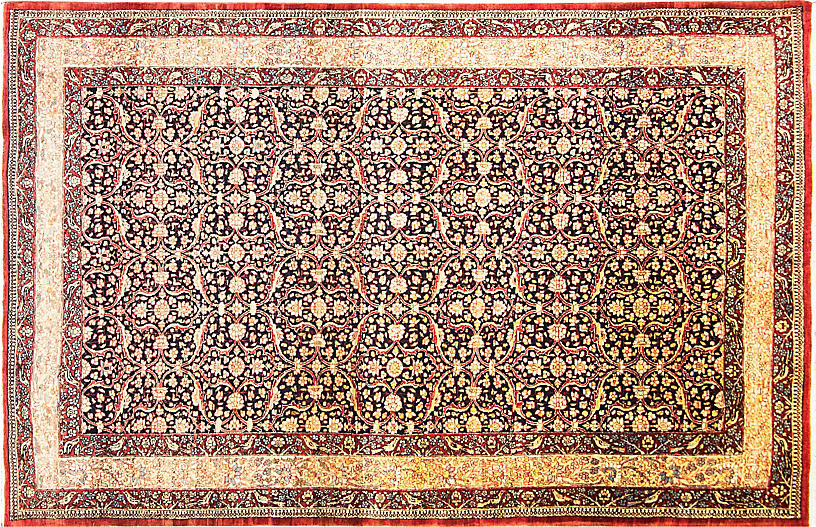Antique Tehran Rug, 6'7