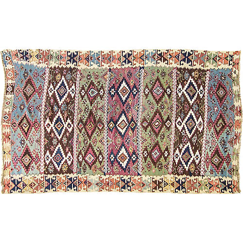 "Antique Turkish Kilim, 6'4"" x 9'1"""