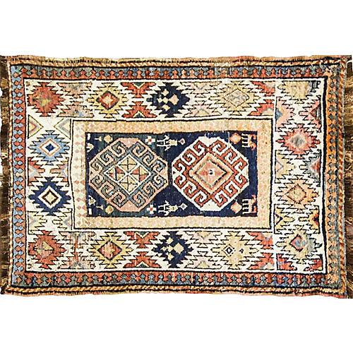 """Antique Persian Rug, 3'11"""" x 5'6"""""""