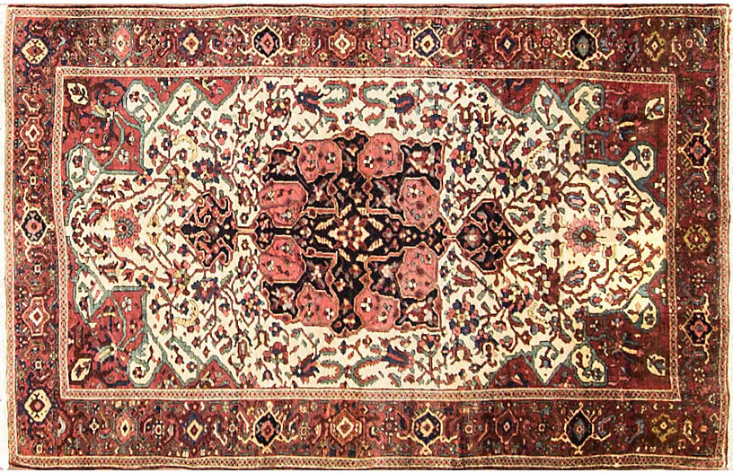 Antique Feraghan Sarouk Rug, 3'4