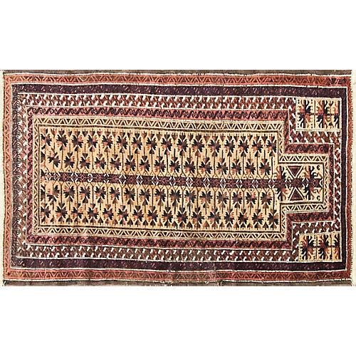"Balouch Prayer Rug, 3' x 5'2"""