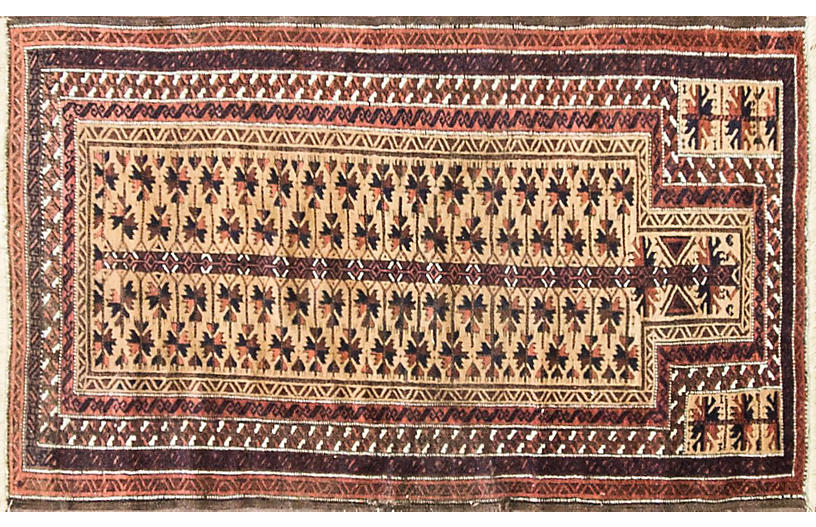 Balouch Prayer Rug, 3' x 5'2