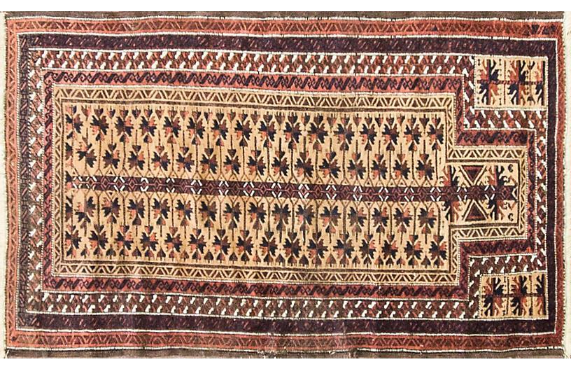Balouch Prayer Rug, 3' x 5'2