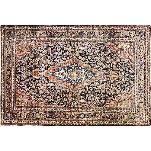 """Persian Sarouk Rug, 4'3"""" x 6'8"""""""