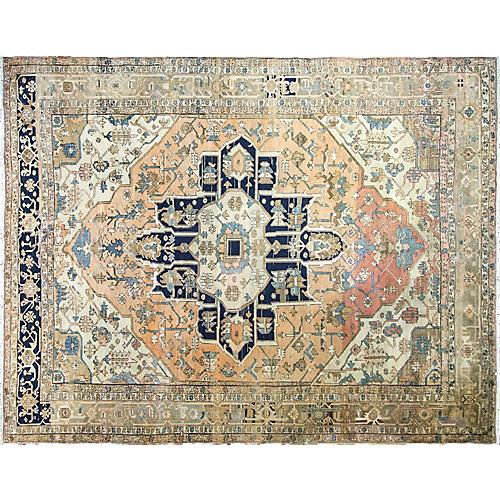 Antique Serapi Carpet, 10' x 13'