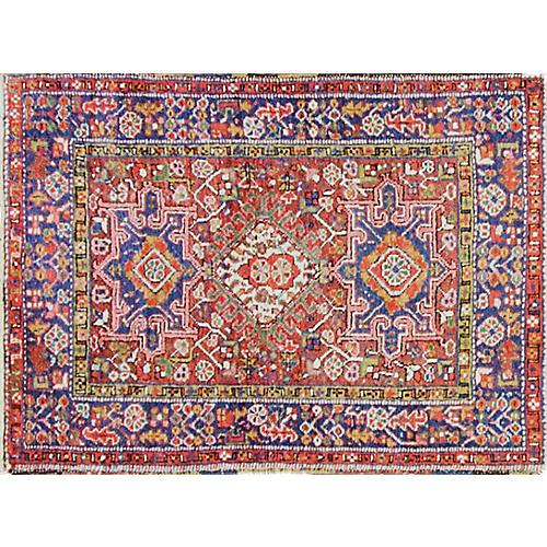 "Antique Persian Karajeh Rug, 3'2"" x 4'5"""
