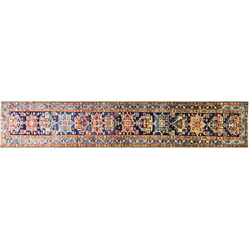 "2'9"" x 17' Antique Persian Karaja Runner"