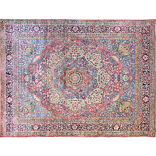 "Antique Persian Kerman Rug, 8'9"" x 11'9"""