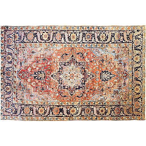 "6'10"" x 10'8"" Antique Persian Heriz"