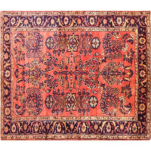"5'6"" x 6'3"" Antique Persian Liilihan Rug"