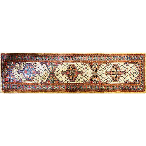 """4'1"""" x 16'5"""" Antique Persian Kurd Runner"""