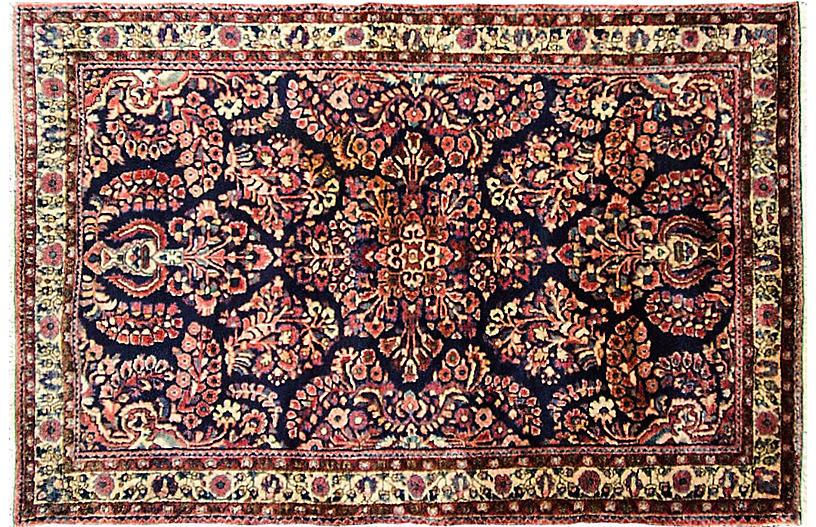 3' x 5' Antique Persian Sarouk Rug