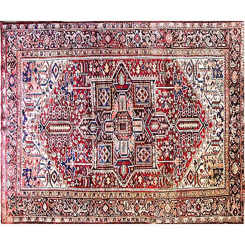 """8'9"""" x 10'9"""" Antique Persian Heriz Rug"""
