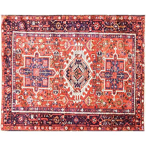 "3'4"" x 4' Antique Persian Karaja Rug"
