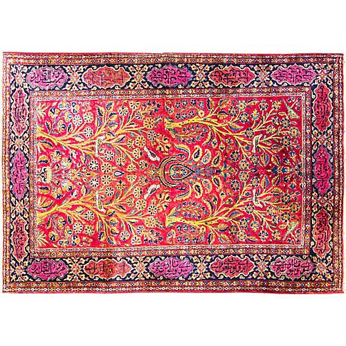 "4'6"" x 6'8"" Antique Persian Kashan Rug"