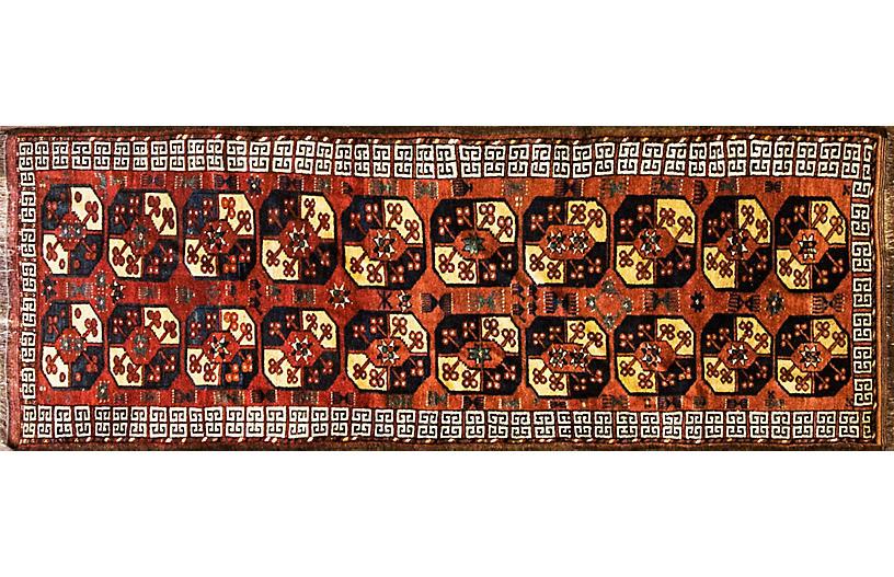 Antique Afghan Ersari Runner 3'6