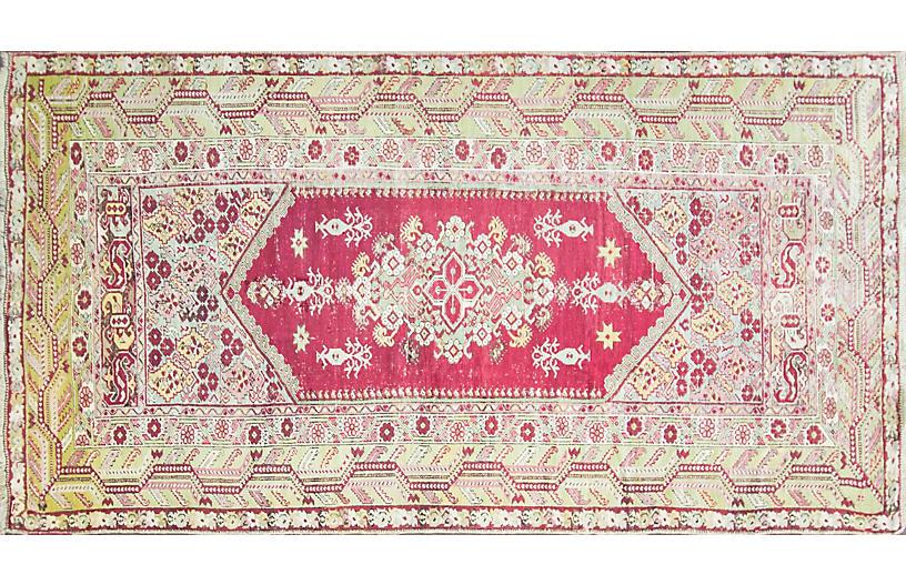 Antique Turkish Oushak Rug 6'8
