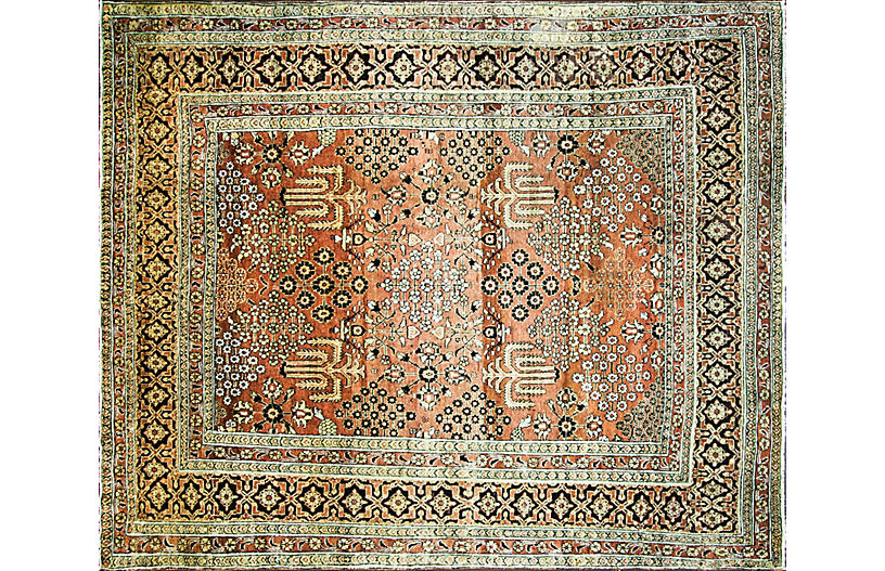 Antique Sultanabad Carpet, 8' x 9'6