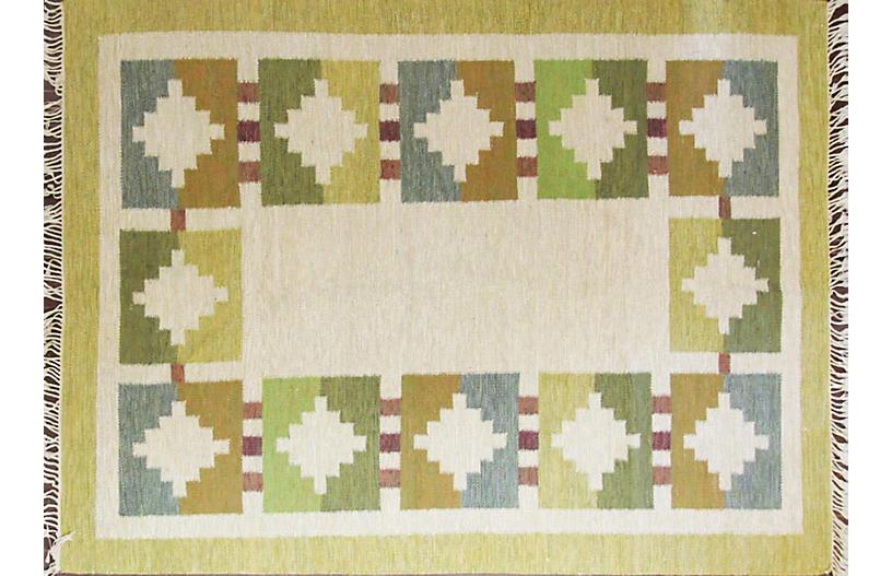 Swedish Flat-Weave Carpet, 6'1