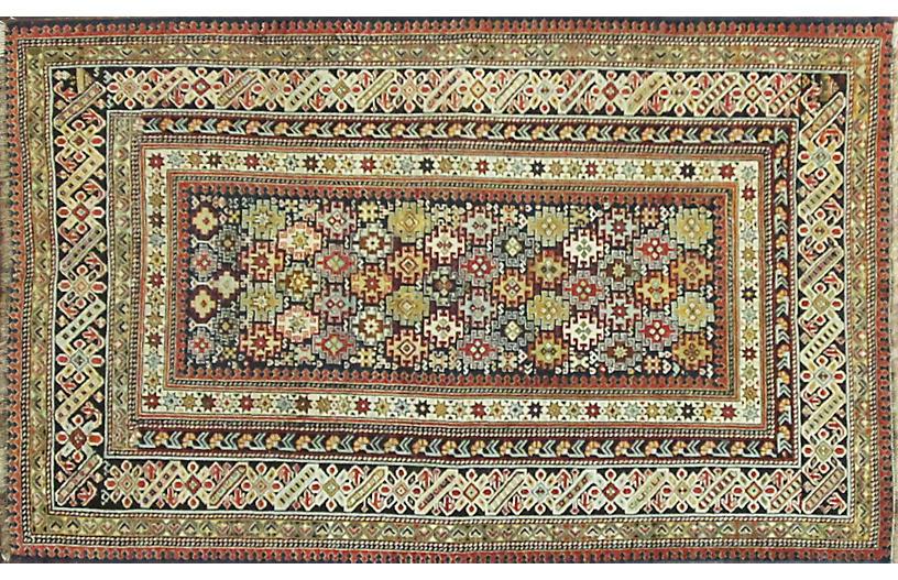 Antique Chichi Caucasian Rug 3'8