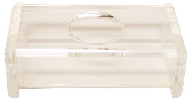 Lucite Tissue Box