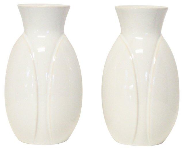 Scheurich West Germany Vases, Pair