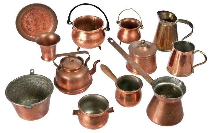 Copper & Brass Miniatures, 12 Pcs