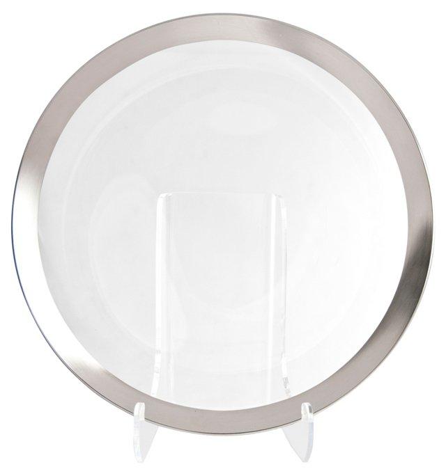 Dorothy Thorpe Glass Serving Platter