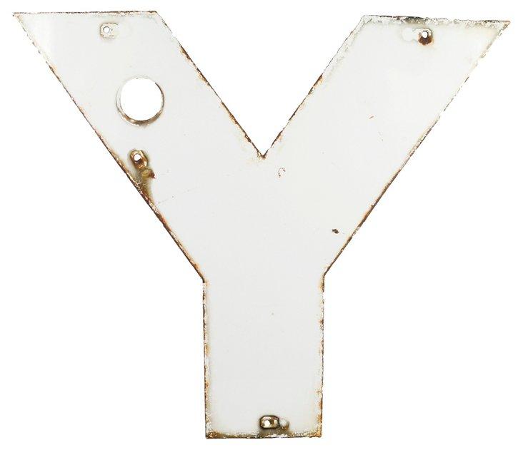 Steel Sign Letter Y
