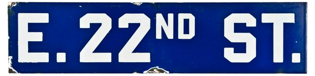 E. 22nd Street Sign