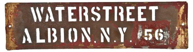 Waterstreet Copper Stencil