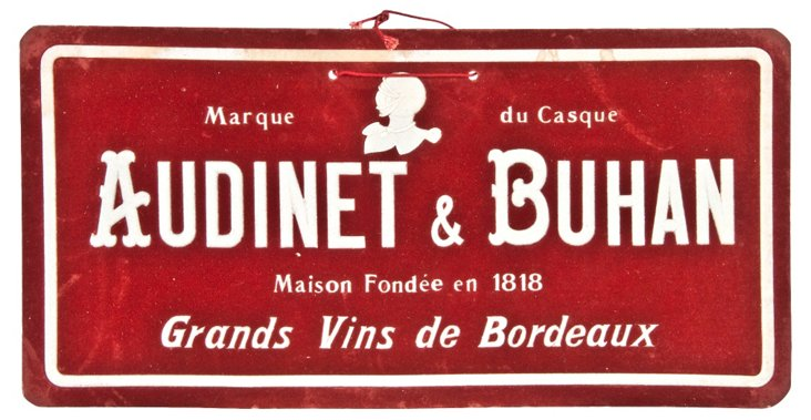 Audinet & Buhan Sueded Sign