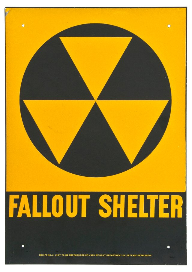 1950s Fallout Shelter Sign